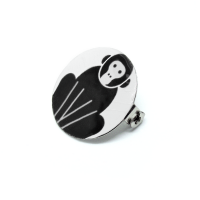 Broche Black monkey