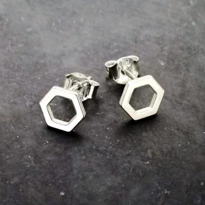 Earrings Hexagone