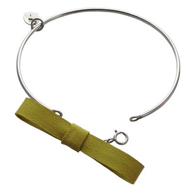 Bracelet jonc discrete jaune 1 3