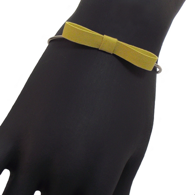 Bracelet jonc discrete jaune 2 2