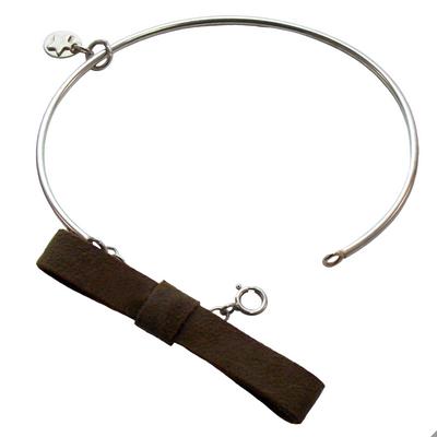 Bracelet jonc discrete taupe 1 2 3