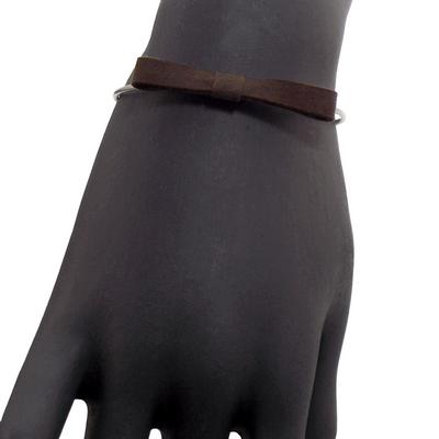 Bracelet jonc discrete taupe 2 1 2