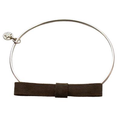 Bracelet jonc discrete taupe 6