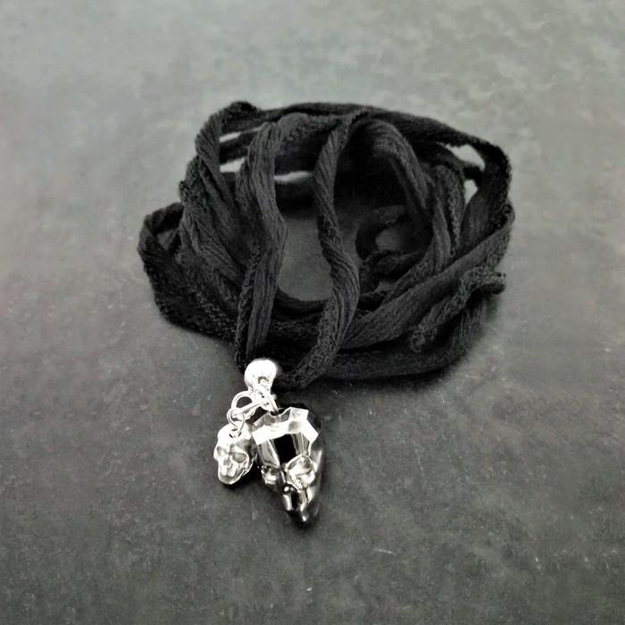 Bracelet ruban vanity noir 0 0 700