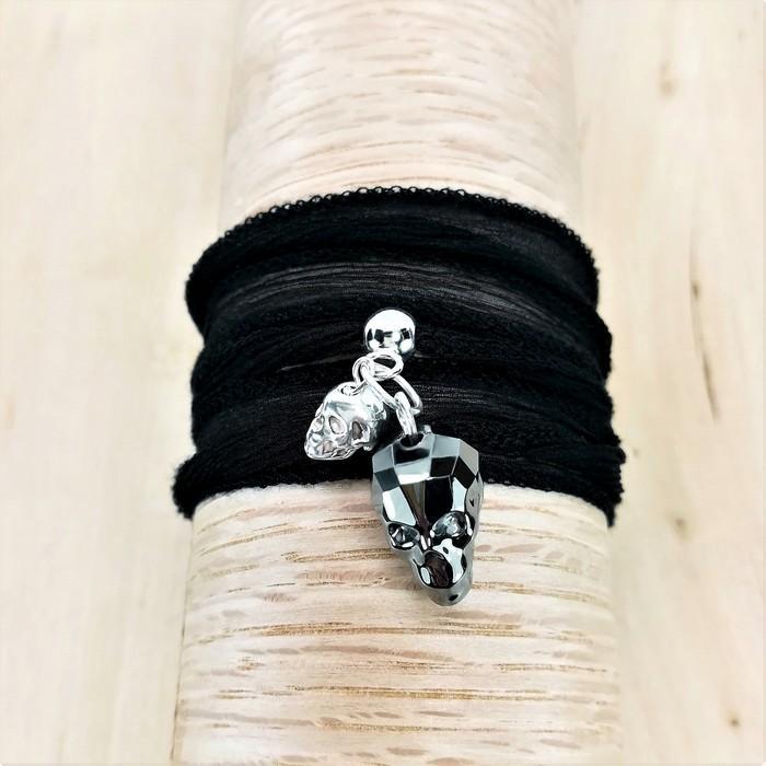 Bracelet ruban vanity noir 2 0 701