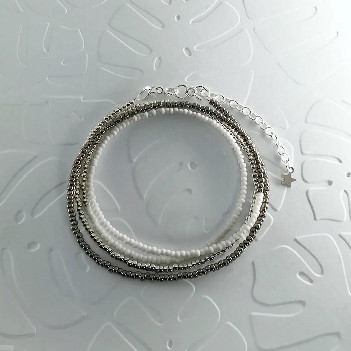 Bracelet wrap diego gris metal 0 0 700