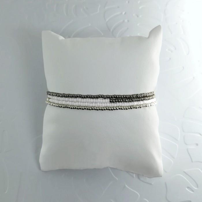 Bracelet wrap diego gris metal 1 0 700