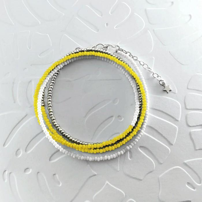 Bracelet wrap diego jaune 0 0 700