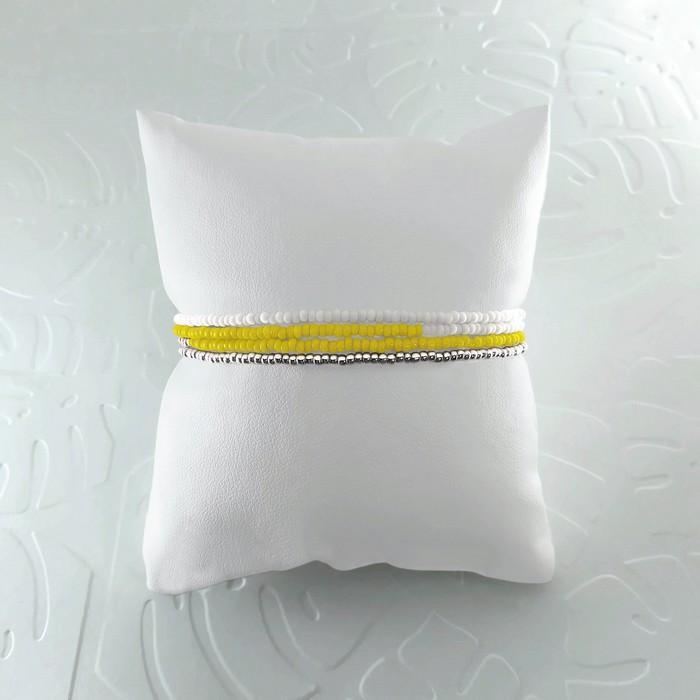 Bracelet wrap diego jaune 1 0 700
