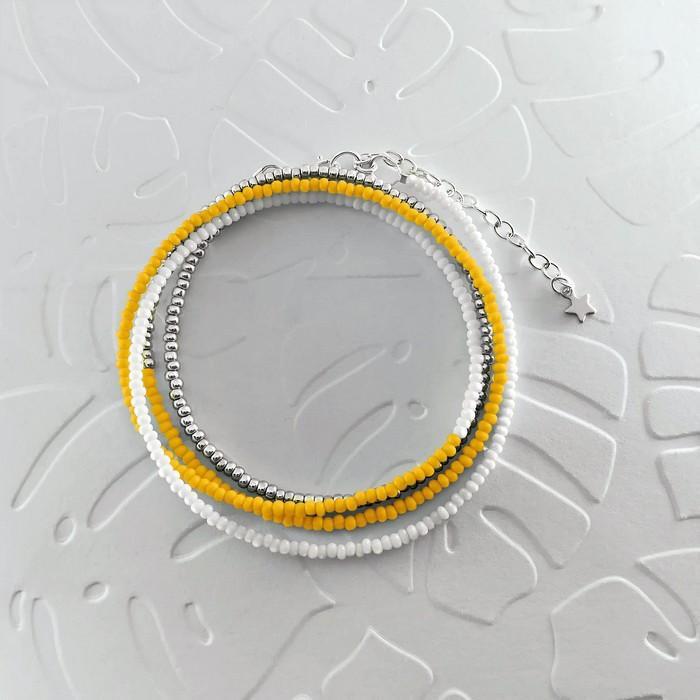 Bracelet wrap diego jaune canari 0 0 700