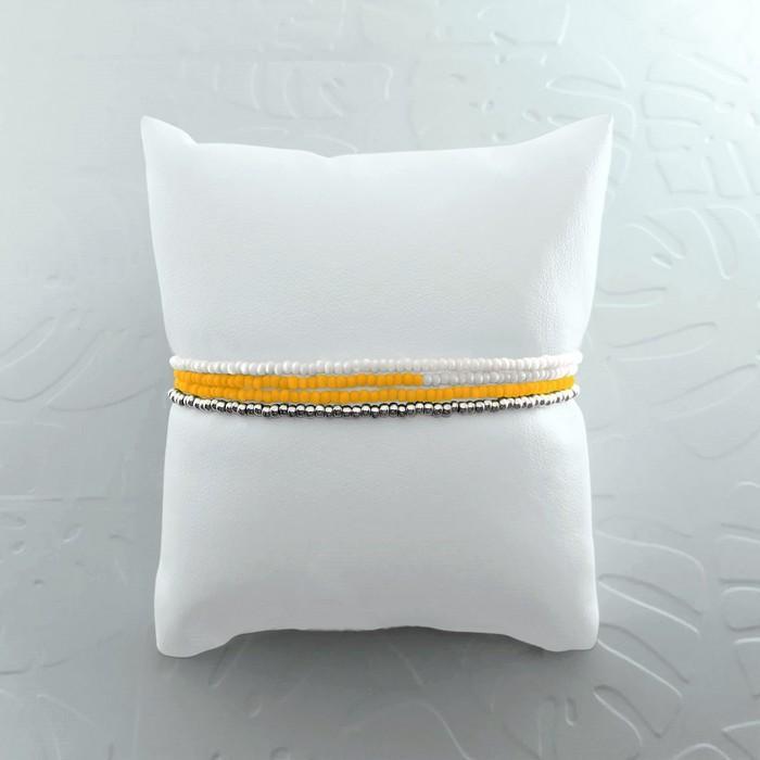 Bracelet wrap diego jaune canari 1 0 700