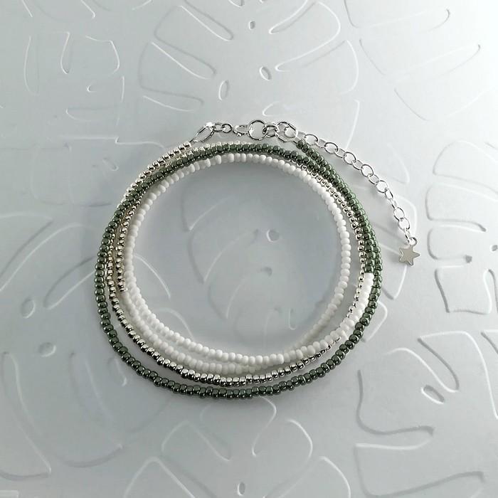 Bracelet wrap diego kaki metal 0 0 700