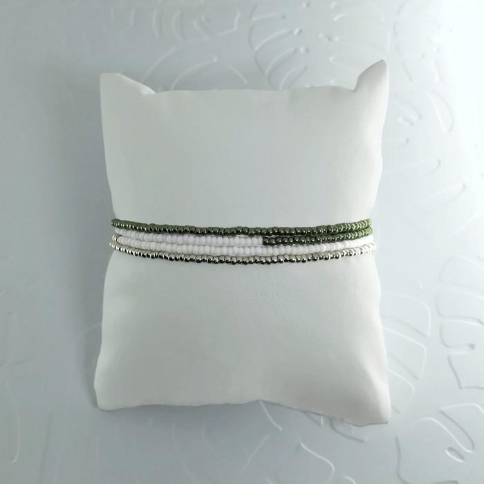 Bracelet wrap diego kaki metal 1 0 701