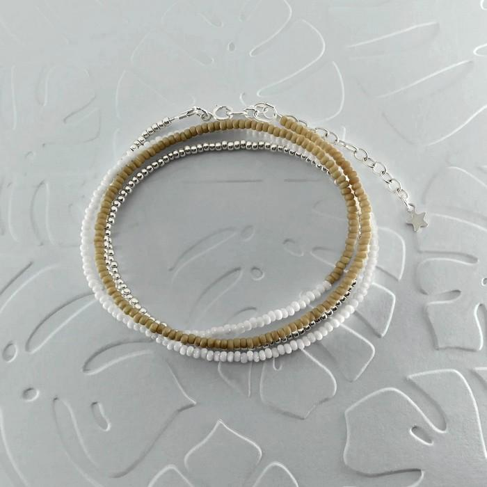 Bracelet wrap diego marron beige 0 0 700