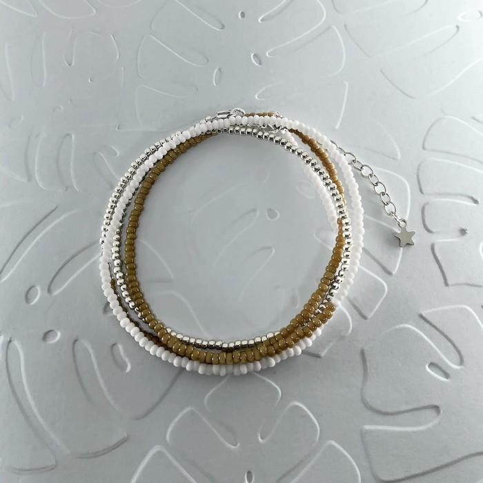 Bracelet wrap diego marron taupe 0 0 700