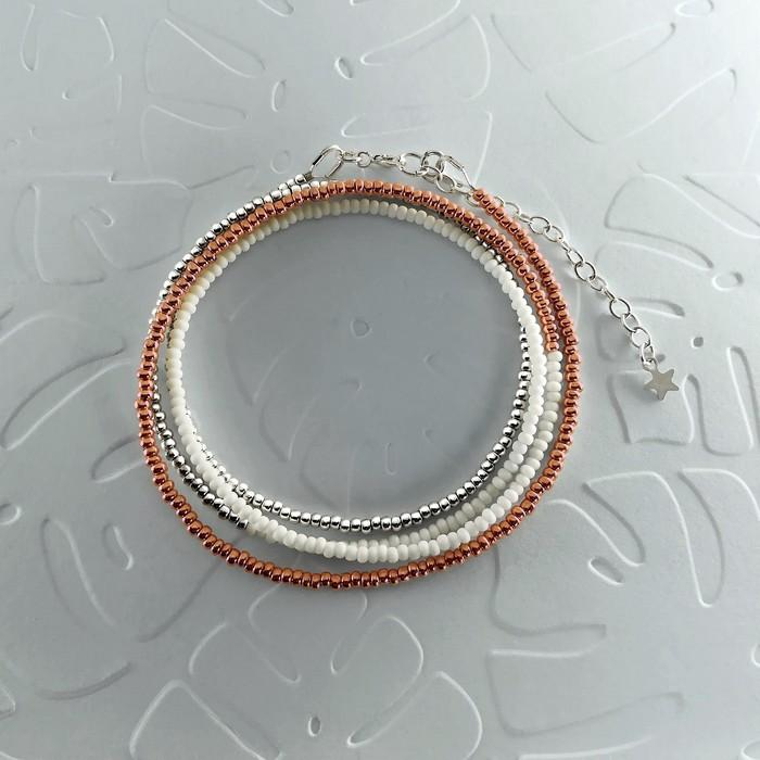 Bracelet wrap diego or rose 0 0 701