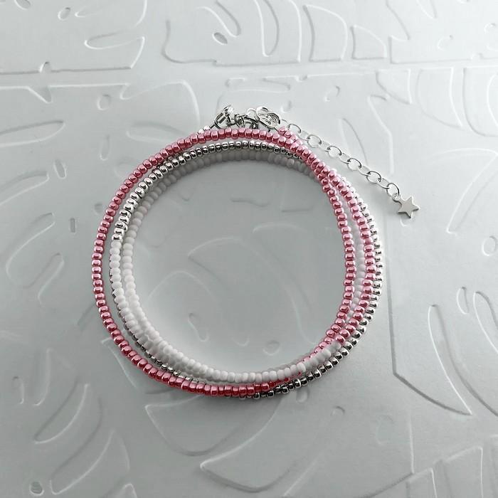 Bracelet wrap diego rose metallise 0 0 700