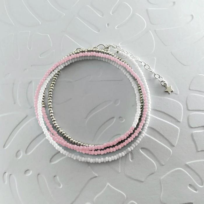 Bracelet wrap diego rose pale 0 0 700