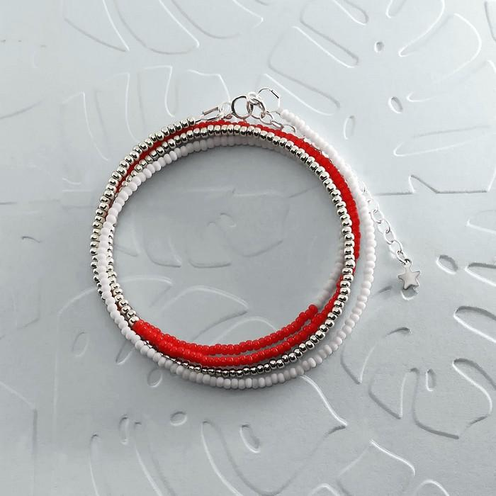 Bracelet wrap diego rouge coquelicot 0 0 700
