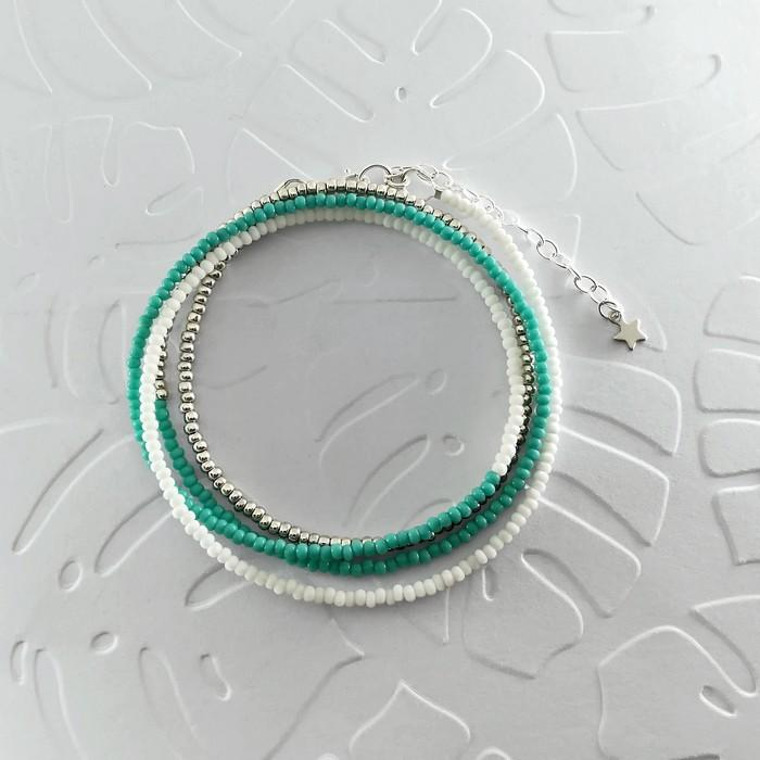 Bracelet wrap diego turquoise 0 0 700