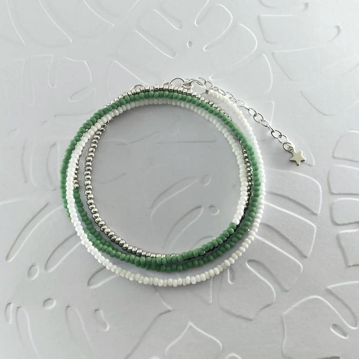 Bracelet wrap diego vert amande 0 0 700