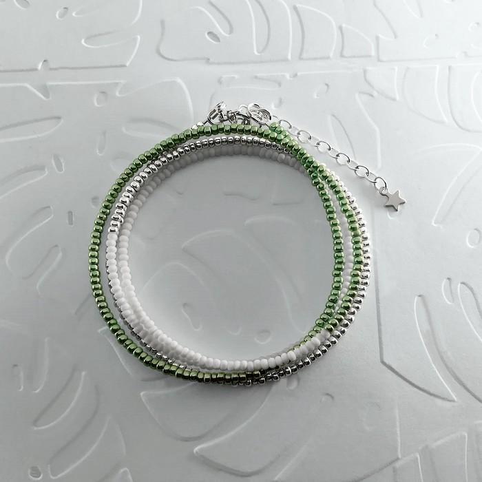 Bracelet wrap diego vert metal 0 0 700