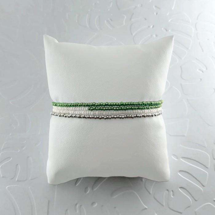 Bracelet wrap diego vert metal 1 0 700