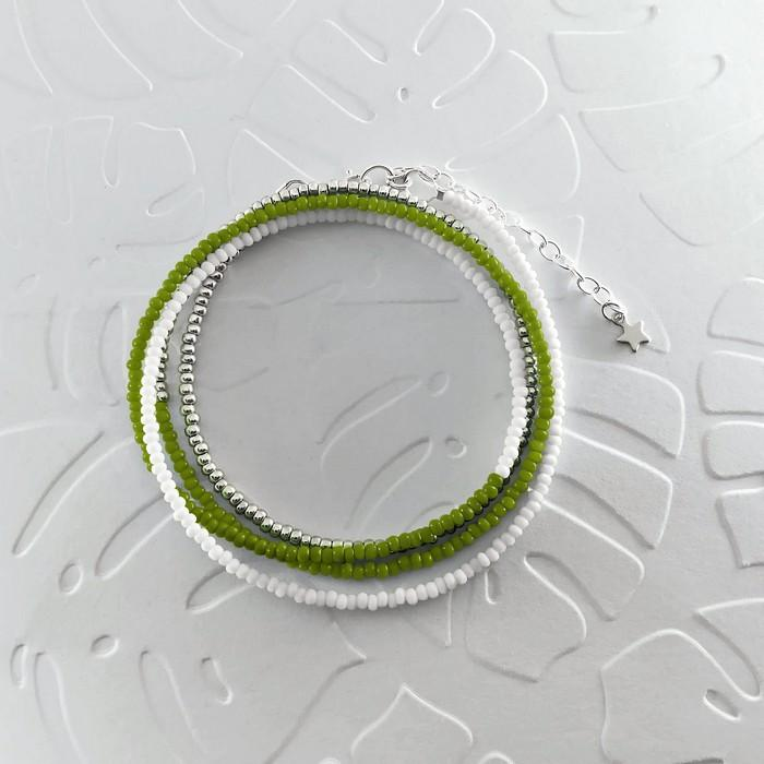 Bracelet wrap diego vert olive 0 0 700