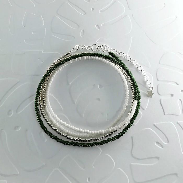 Bracelet wrap diego vert scarabee metal 0 0 700