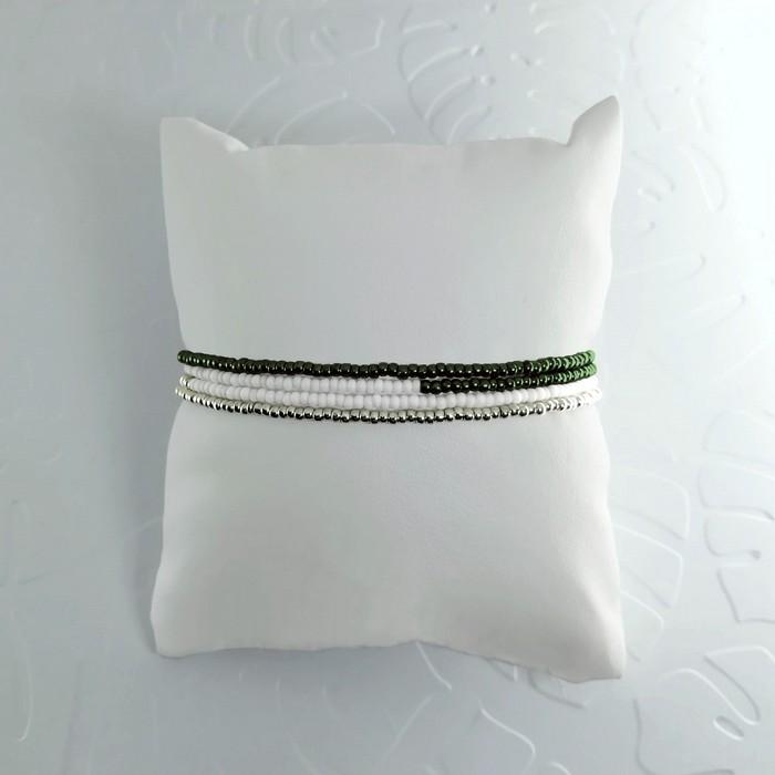 Bracelet wrap diego vert scarabee metal 1 0 700