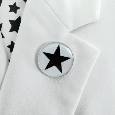Brooch Black star