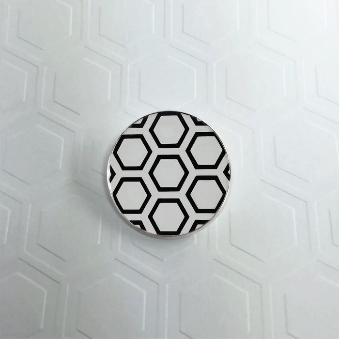 Broche badgi hive blanc 0 0 701