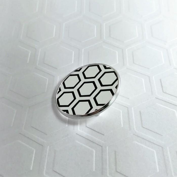 Broche badgi hive blanc 1 0 701