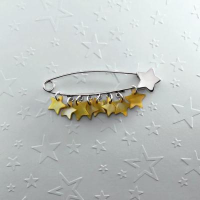 Broche Rain of stars jaune