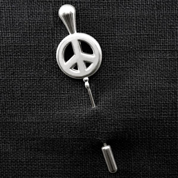 Fibule peace argent b 0