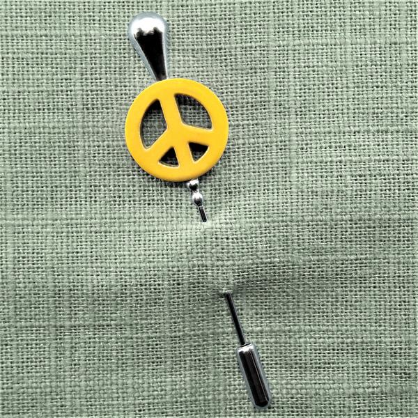 Fibule peace jaune b 0