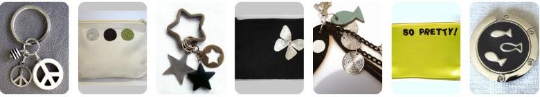 Accroche-sac, porte-clés, grigri, maroquinerie... Les créations accessoires llule créa
