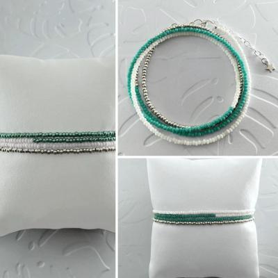 Bracelets wrap/collier Diego les bleus marins