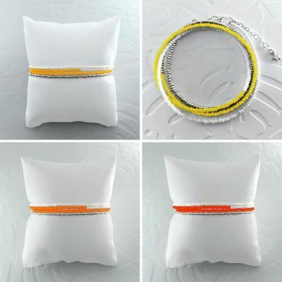 Bracelets wrap/collier Diego les jaunes & oranges