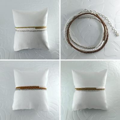Bracelets wrap/collier Diego les marrons