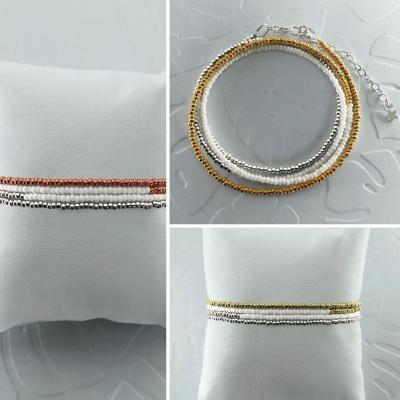 Bracelets wrap/collier Diego les ors