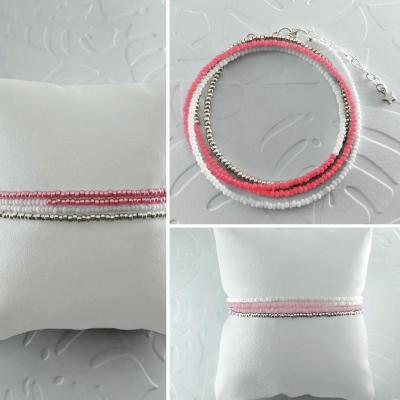 Bracelets wrap/collier Diego les roses