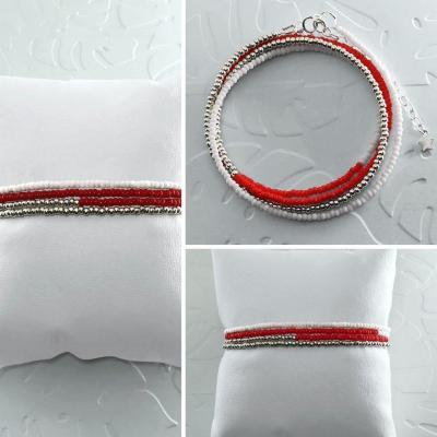 Bracelets wrap/collier Diego les rouges