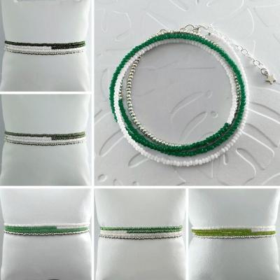 Bracelets wrap/collier Diego les verts